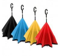 Зонт обратного сложения, смарт зонт - Красный (5505)