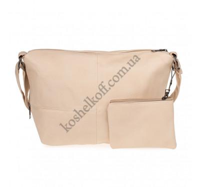 Женская сумка через плечо Bagira 705 персик