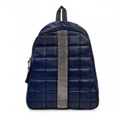 Рюкзак женский из искусственной кожи B-R-N синий