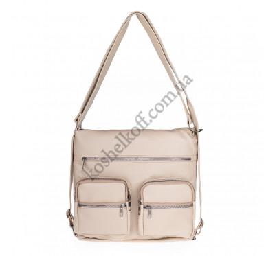 Женская сумка через плечо бежевая B-R-N 5604 (Турция)