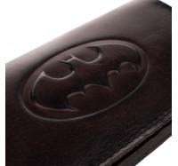 """Кошелек из натуральной кожи Dezzle с тиснением""""Бэтмен"""" коричневый,  (2602 batman brown)"""