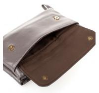 Женская сумочка-клатч через плечо серая 2025