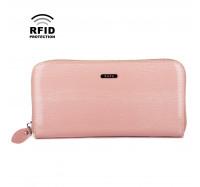 Кошелек женский кожаный Kafa с RFID защитой (BC74 pink)