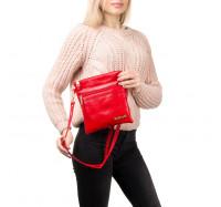 Женская сумка-планшет через плечо 0015 красная