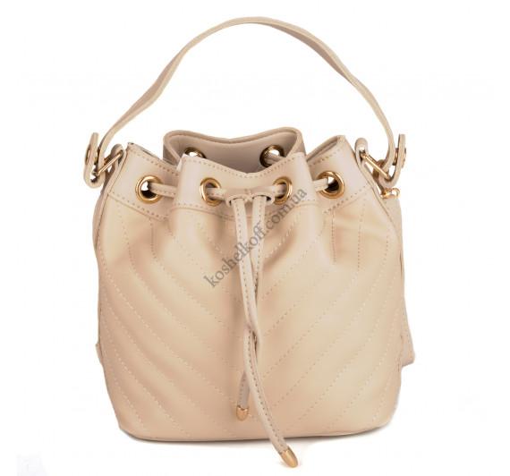 Стильная  женская сумка    6656 beige
