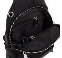 Сумка мужская через плечо из водоотталкивающей ткани с USB-выходом Nobol 2298 черный