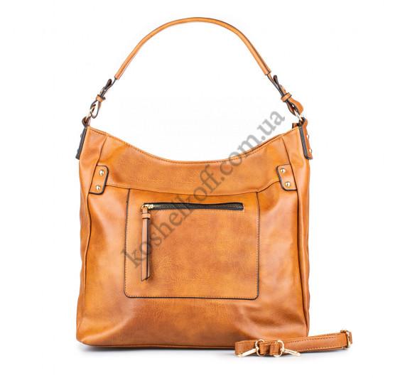 Модная женская сумка Sisters 930 коричневая