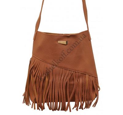 Модная  женская сумка через плечо X005 (коричневая)