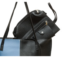 """Стильная женская сумка """"4 в 1""""  P160 (сине-черная)"""