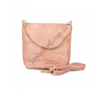 Маленькая женская  сумочка Bagira 610 розовая
