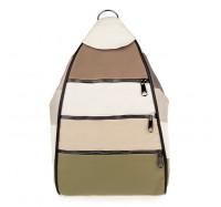Женский городской рюкзак-сумка из натуральной кожи LT 5617 summer mix