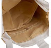Сумка женская вместительная через плечо Bagira 970 White