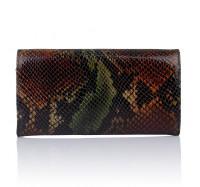 Женский кошелек из натуральной кожи Desisan коричневый 057586