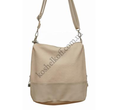 Женская сумочка через плечо 003 (пудра)