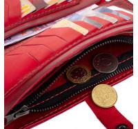 """Большой кошелек из натуральной кожи Dezzle """"Этно"""" красный, 23 отделения (2601t red)"""