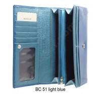 Кошелек на кнопке BC 51 Light Blue