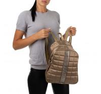Рюкзак женский из искусственной кожи B-R-N золотистый