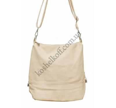 Женская сумочка через плечо 003 (кремовая)