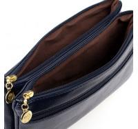 Женская сумочка-клатч через плечо синяя 2025