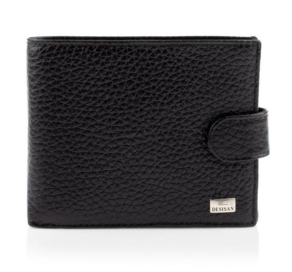 Мужской кошелек портмоне кожаный Desisan 080 001 черный
