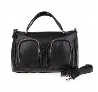 Женская сумка саквояж через плечо Goodyfun GF-8600 черная