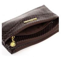 Женская сумочка-клатч через плечо коричневая  1983
