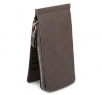 Женский кошелек-картхолдер Carrken серый C010-5