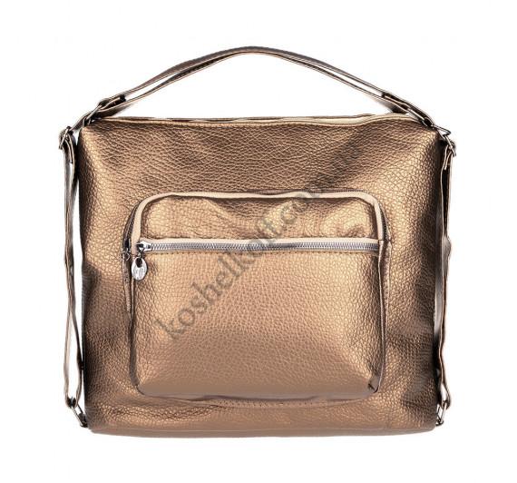 Женская сумка через плечо бронза 5603 B-R-N (Турция)