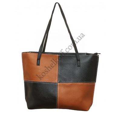 """Стильная женская сумка """"4 в 1""""  P160 (черно-коричневая)"""