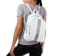 Женский городской рюкзак белый, искусственная кожа