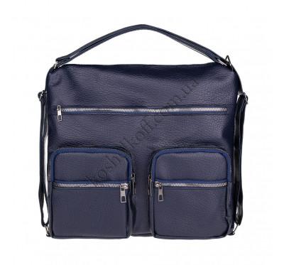 Женская сумка через плечо синяя B-R-N 5604 (Турция)