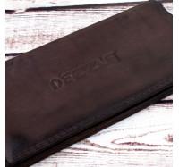 Портмоне кожаное на кнопках  Dezzle 2602 темно -коричневое