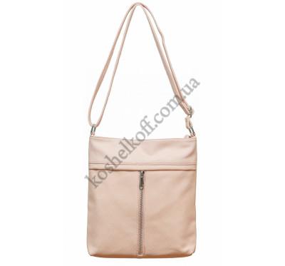Женская сумочка через плечо 001 (розовая)
