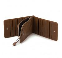 Женский кошелек-картхолдер Carrken коричневый C010-5