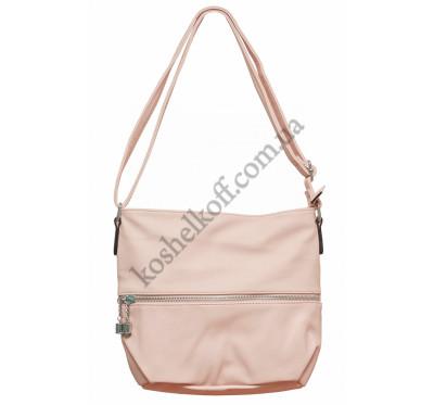 Женская сумочка через плечо 002 (розовая)
