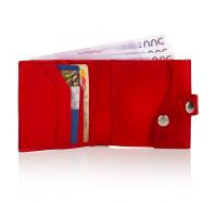 """Кожний маленький гаманець портмоне жіночий ручної роботи KAFA """"Кішки"""" червоний (2615)"""
