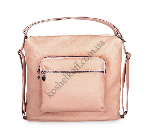 Женская сумка через плечо розовая  5603 B-R-N (Турция)