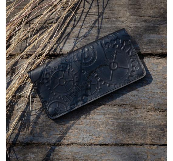 Кошелек из натуральной кожи Dezzle с тиснением  2602 Black1